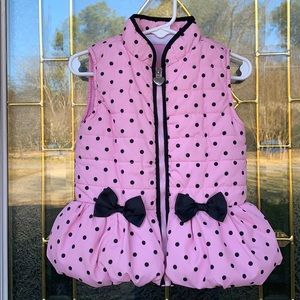 Other - Girls' 3T pink and black puffer vest w/ bows